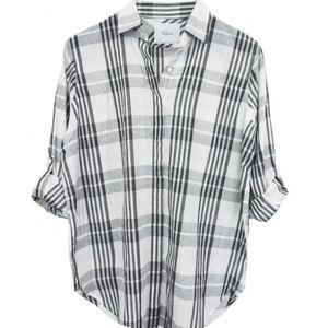 Rails Ella Button Down Shirt White Ash Plaid